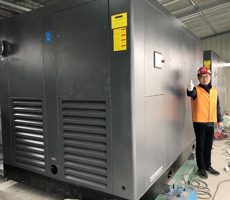 苏州某电子厂节能改造200KW空气压缩机项目